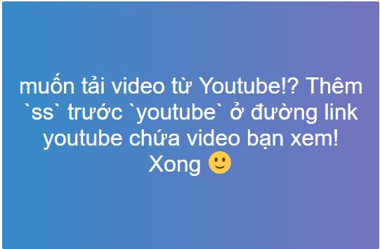 Tải video từ youtube