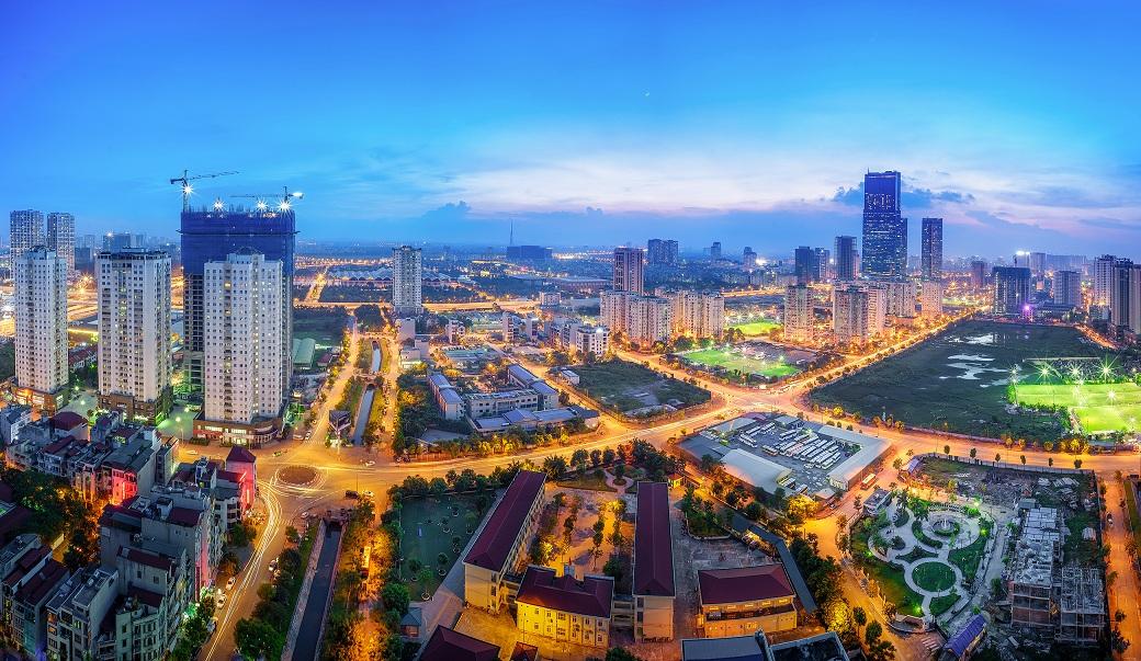 Thành phố Hà Nội về đêm